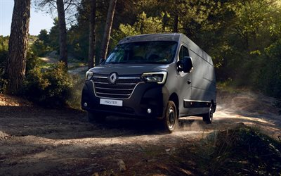 Renault Master, 2019, van, commercial vehicles, gray van, new gray Master, french cars, Renault