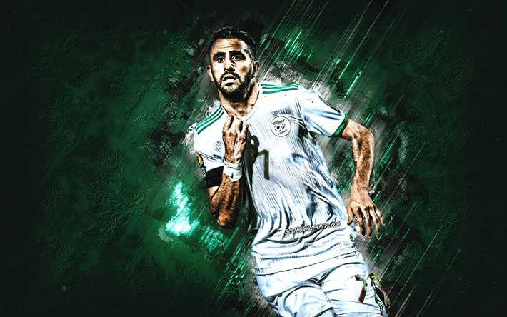 Download Wallpapers Riyad Mahrez, Algerian Footballer