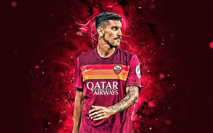Download wallpapers Lorenzo Pellegrini, 4k, 2020, AS Roma, Serie A, italian  footballers, soccer, neon lights, Roma FC, Lorenzo Pellegrini 4K for  desktop free. Pictures for desktop free