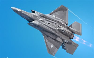 Lockheed Martin F-35A Lightning II, American Fighter Bomber, F-35, USAF, military aircraft, United States Air Force