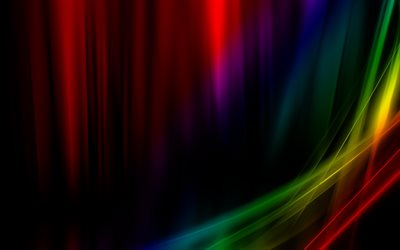 waves, creative, rainbow, lines, colorful spectrum, abstract background