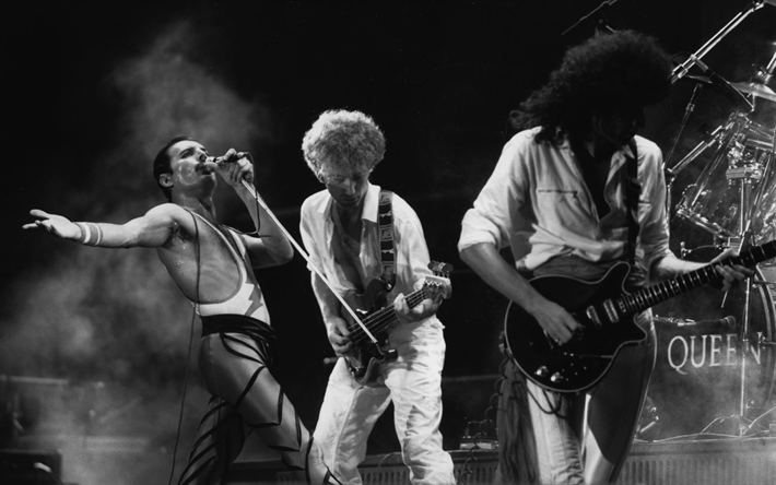 Download Wallpapers Queen Brian May Freddie Mercury British Rock Band Rock John Deacon Roger Taylor For Desktop Free Pictures For Desktop Free
