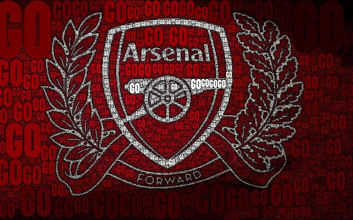 Download Wallpapers Arsenal FC, London, Creative Logo