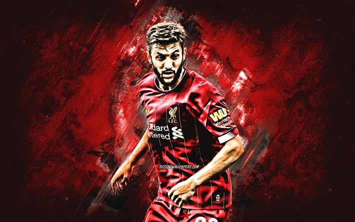 Download Wallpapers Adam Lallana, Liverpool FC, Portrait