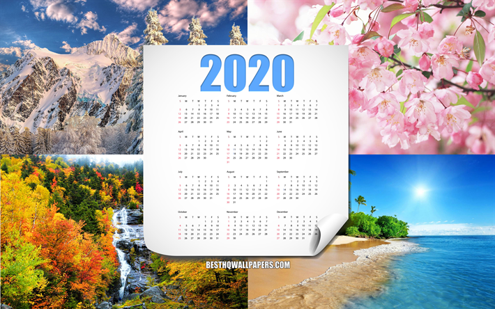 Download Wallpapers 2020 Calendar All Months 2020 Year 4
