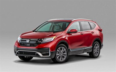 Honda CR-V, 2020, exterior, front view, red crossover, new red CR-V, japanese cars, Honda