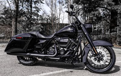 Harley-Davidson Special FLHRXS, 4k, side view, black motorcycle, 2020 bikes, superbikes, classic motorcycles, american motorcycles, Harley-Davidson