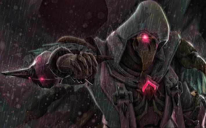 Download Wallpapers Reaper Overwatch Characters Darkness