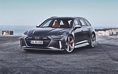 Audi RS6 Avant, 4k, supercars, 2020 cars, wagons, 2020 Audi RS6 Avant, german cars, Audi