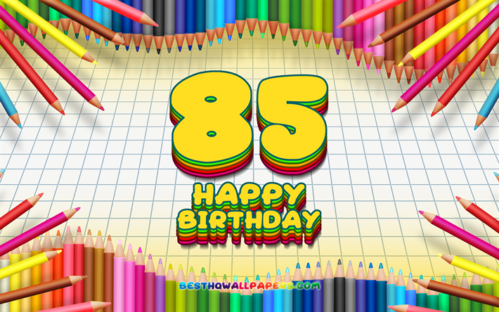 Download wallpapers 4k, Happy 85th