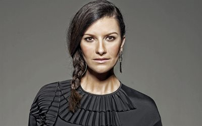 Laura Pausini, italian singer, portrait, photoshoot, black dress, popular singers, italian star