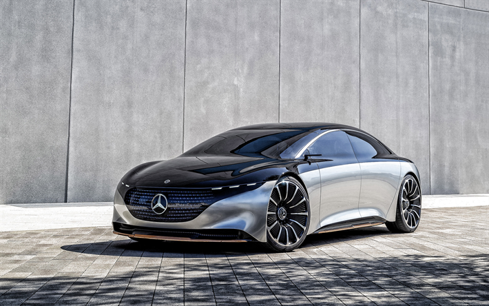 2019, Mercedes-Benz Vision EQS, exterior, luxury sedan, concepts, electric cars, German cars, Mercedes