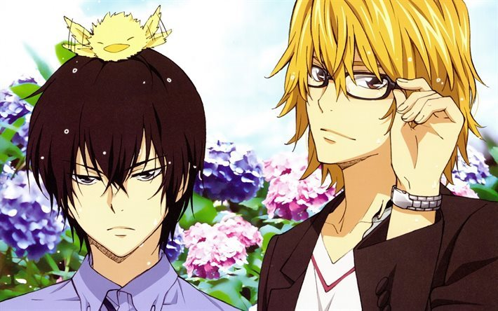 Download Wallpapers Ringo Momo Hibari Kyoya Manga Katekyo Hitman