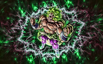 Broly, nebula, artwork, Dragon Ball, DBS, Dragon Ball Super, DBS characters