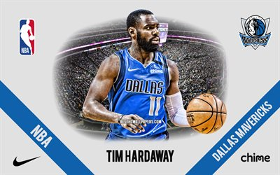 Tim Hardaway, Dallas Mavericks, American Basketball Player, NBA, portrait, USA, basketball, American Airlines Center, Dallas Mavericks logo