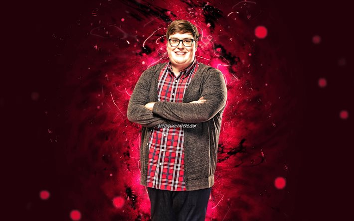 Jordan Smith, 4k, american singer, music stars, purple neon lights, american celebrity, Jordan Mackenzie Smith, superstars, Jordan Smith 4K