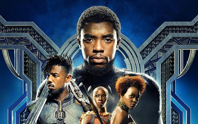 Black Panther, poster, 2018 movie, action