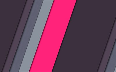 strips, gray background, material design, pink line, geometry, abstract material, art