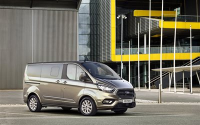 Ford Tourneo Courier, 4k, 2017 cars, compact vans, class L, new Tourneo Courier, Ford