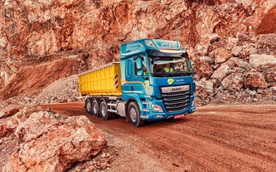 4k, DAF CF 480, HDR, career, 2019 trucks, cargo transport, 2019 DAF CF, LKW, DAF