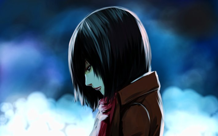 Download Wallpapers 4k Mikasa Ackerman Attack On Titan