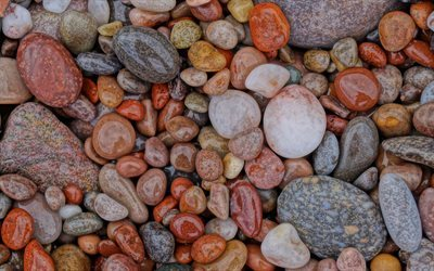 coast, rocks, pebbles, pebble stones