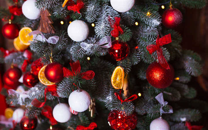 Download wallpapers christmas tree new year decorations for Decoration 2018