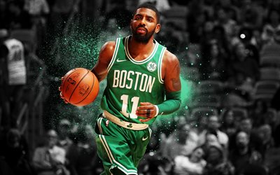 Download wallpapers NBA, Kyrie Irving, art, basketball ...
