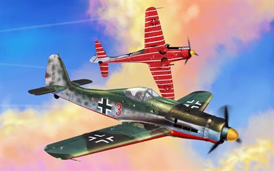 Focke-Wulf Fw 190D-9, Langnasen Dora, Jagdverband 44, JV44, WarThunder, World War II, the German fighters, military aircraft