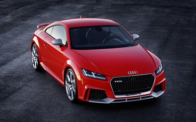 Audi TT RS, 2018, sports coupe, German cars, Red TT, Audi