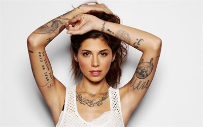 Christina Perri, 4k, american singer, beauty, superstars, brunette