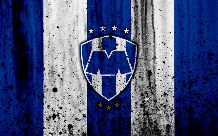 Download wallpapers 4k, FC Monterrey, grunge, Liga MX, soccer, art, Primera Division, football ...