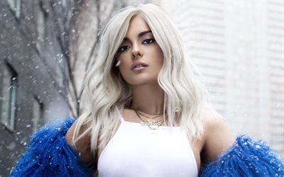Bebe Rexha, superstars, beauty, american singer, blonde
