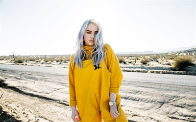 Billie Eilish, 2019, desert, american singer, concert, Billie Eilish on stage, american celebrity, Billie Eilish Pirate Baird OConnell, Billie Eilish photoshoot