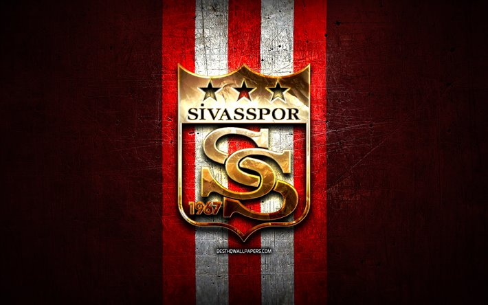 Download Wallpapers Sivasspor FC Golden Logo Turkish