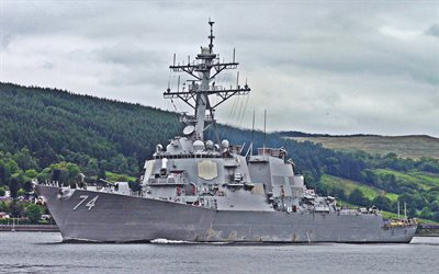 USS McFaul, DDG-74, destroyer, United States Navy, US army, battleship, US Navy, Arleigh Burke-class