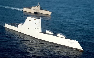 modern warships, USS Zumwalt, DDG 1000, USS Independence, LCS 2, US Navy