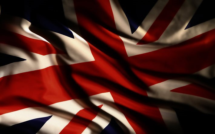 British flag, fabric, Union Jack, flags, UK flag