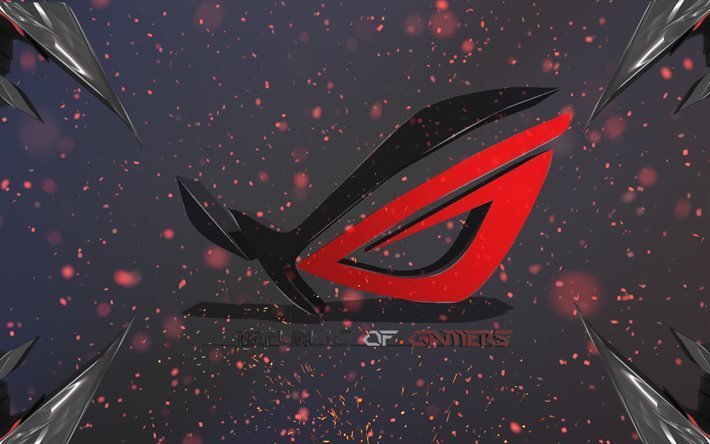 Republic of Gamers, 3d logo, ASUS, creative