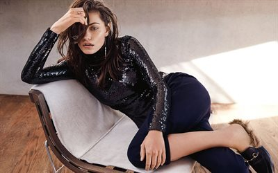 Phoebe Tonkin, australian actress, photoshoot, Style Magazine, brunette