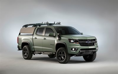 Chevrolet Colorado, Z71, Hurley Concept, 2016, pick-up, matte painting, SUV