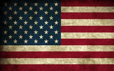 American flag, grunge, USA flag, United States flag