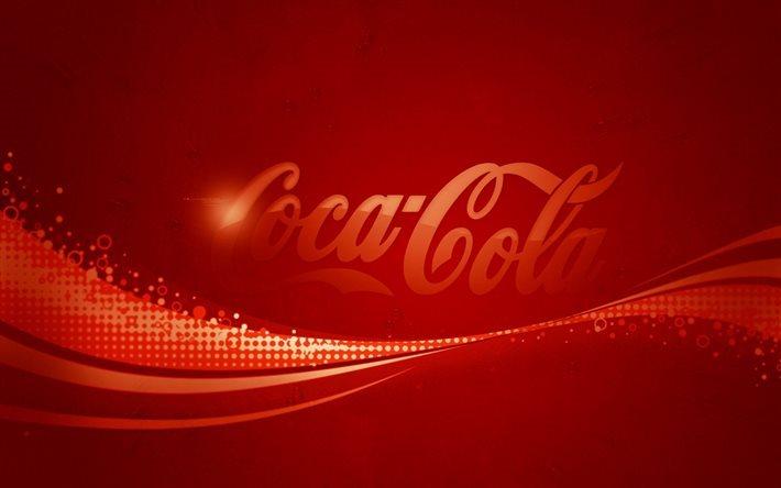Scarica Sfondi Coca Cola Simbolo Sfondo Rosso Per Desktop Libero