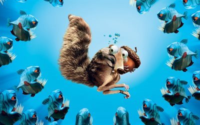 Ice Age, Scrat, squirrel, nut