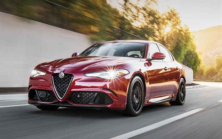 Download Wallpapers 4k Alfa Romeo Giulia 2018 Cars Motion