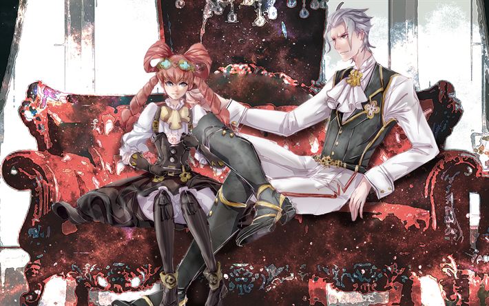 Download Wallpapers The Great Ace Attorney Godot Athena Cykes Manga Dai Gyakuten Saiban For Desktop Free Pictures For Desktop Free