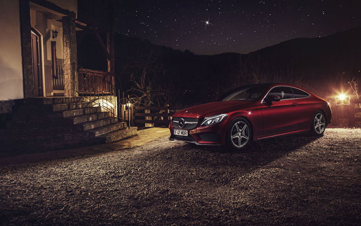 Download Wallpapers Mercedes Benz C63 Amg Coupe 4k Night