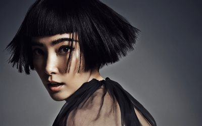 Li Bingbing, l'attrice Cinese, star di Hollywood, photoshoot, portrait, trucco, vestito nero, Hollywood, stati UNITI