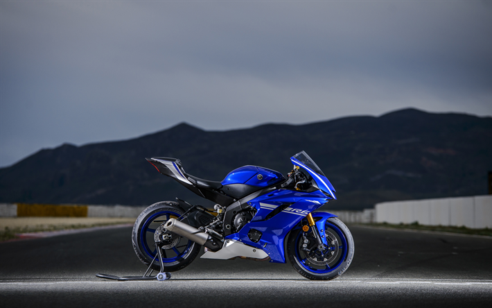 Download Wallpapers Yamaha YZF-R6, 4k, Side View, 2019