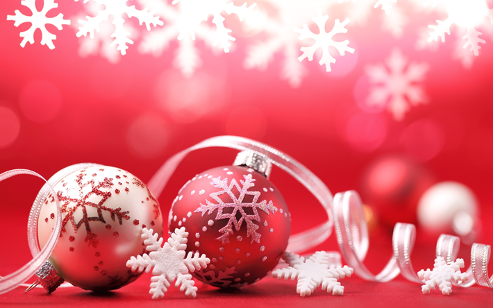 Red Christmas Background.Download Wallpapers Red Christmas Background White